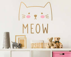 Removable Wall Decals For Nursery Cat Wall Decal Etsy
