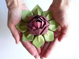 Lotus Blossom Origami - craft flowers how to fold an origami lotus blossom