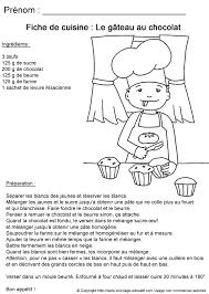 coloriage recette de cuisine coloriage educatif fiches de cuisine à colorier gâteau au chocolat