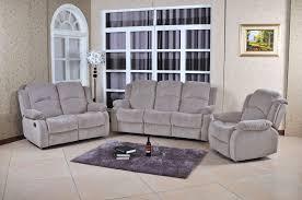 gray reclining sofa fenton grey velvet reclining sofa u0026 loveseat set with recliner