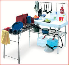 portable camp kitchen with sink
