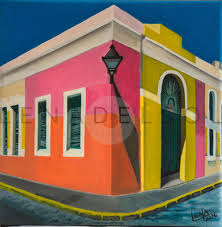 puerto rico art fine art old san juan acrylic painting wall