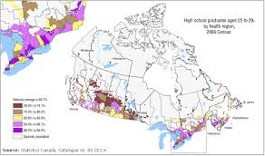 canadian map population distribution geography