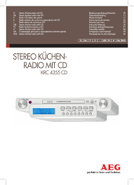 radio cd cuisine aeg krc 4355 cd user manual 66 pages