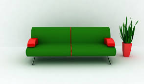 Get Your Living Space A Nice Color Splash With Cool Green Sofa - Minimalist sofa design