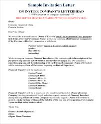 sample business invitation letter 6 examples in word pdf
