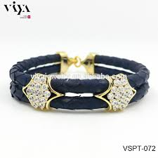 luxury men bracelet images Luxury fahion royal blue stingray leather men bracelet vners jpg