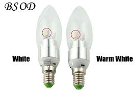 10pcs lot 220v 3w e14 dimmable and non dimmable led candle bulb