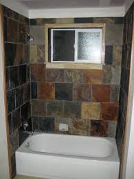 Slate Tile Bathroom Shower Retiling Tub Surround Is A Of Keeping Repair Home