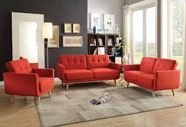 Red Furniture Living Room Amazon Com Acme Furniture 52661 Sisilla Loveseat Red Linen