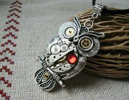 steampunk owl necklace images Watch parts steampunk owl pendant awesome stuff 365 jpg