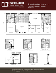 schult floor plans schult freedom 7232 415 excelsior homes west inc