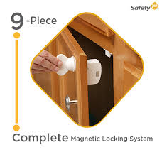 magnetic lock kit for cabinets amazon com safety 1st magnetic cabinet locks 2 locks 1 key