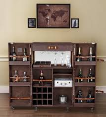 Trunk Bar Cabinet Buy Heritage Trunk Bar Cabinet In Brown Leather By Studio Ochre