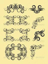 curl border and corner decorations graphicriver curly ornament