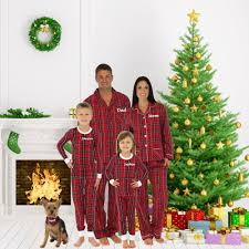 personalized embroidered family pajamas matching