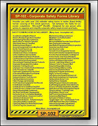amazon com sp 102 safety forms library osha 29 cfr 1910