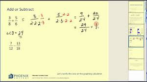 addition and subtraction of fractions youtube