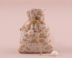 favor bag rustic burlap and lace drawstring favor bag set of 12 my