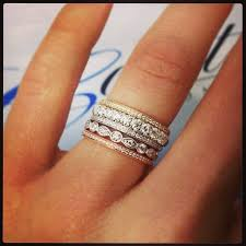 how to wear wedding ring set best 25 stackable wedding bands ideas on stacked