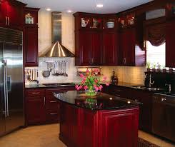 Rubberwood Kitchen Cabinets Burgundy Kitchen Cabinets House Decor Pinterest Kitchens