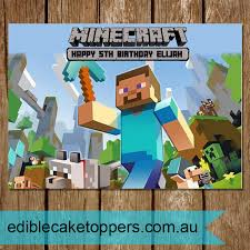 minecraft edible cake topper minecraft archives edible cake toppers australia s leading