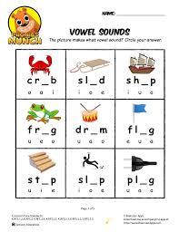 vowel sounds phonics worksheet