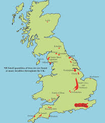 Map Of British Isles Iron Mining In The British Isles Northern Mine Research Society