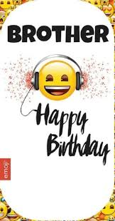 emoji smiley headphones brother happy birthday card gift ebay