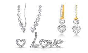 heart shaped diamond earrings heart shaped diamond earrings groupon goods