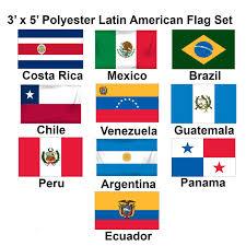 Venezuela Flag Colors 3x5ft Set Of 10 Latin American Flags Set 1 1 800flags Com