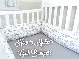 Mini Crib Sheet Tutorial by Baby Boy Nursery Part 3 How To Make Crib Bumpers Diy Baby
