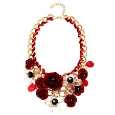red necklace statement images Red bib necklace jpg