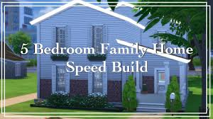 the sims 4 speed build 5 bedroom family home youtube