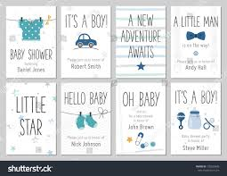 Baby Boy Baby Shower Invites Baby Shower Invitations Baby Boy Arrival Stock Vector 730255840