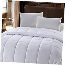 White Down Comforters Cuddl Duds Level 1 300 Thread Count Down Comforter King White Ebay