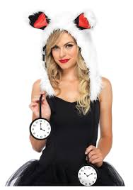 halloween costumes for bunny rabbits white rabbit furry hood hat