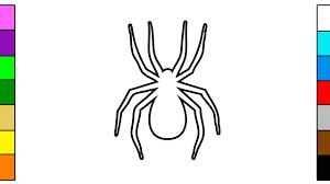 learn colors for children with colorful spider coloring page youtube