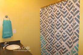 Yellow And Gray Bathrooms - doodlecraft stencil a shower curtain with cutting edge stencils