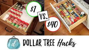 Organzie by Dollar Tree Hacks To Organize Spice Drawers Cabinets Youtube