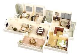 25 more 3 bedroom 3d floor plans outstanding residential house