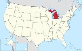 Map Lake Michigan by Where Is Michigan On A Map Michigan Map