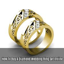 wedding rings online how to buy a diamond wedding ring set online