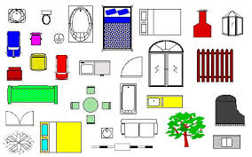 Floor Plan Furniture Clipart Ez Architect Low Cost Draw Tool For Creating Floor Plans And