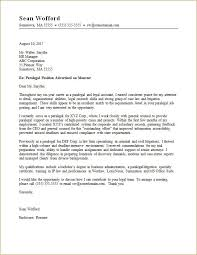 Paralegal Cover Letter Templates paralegal cover letter sle