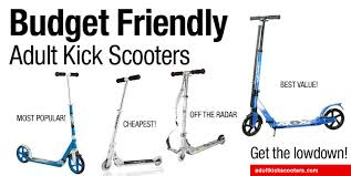 budget friendly kick scooters for adults adultkickscooters