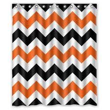 Burnt Orange Curtains Sale Pink Chevron Shower Curtain