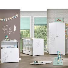 chambre bebe chambre bébé trio teddy lit 60x120cm commode armoire de baby
