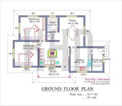 low cost house design house plan low cost house in kerala with plan u0026 photos 991 sq ft