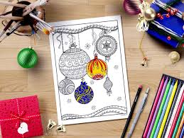 christmas ornaments coloring page downloadable xmas coloring